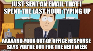 out of office meme