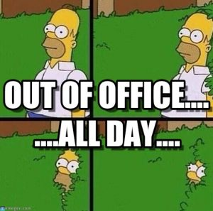 Out-of-office meme